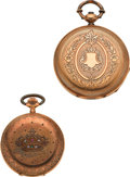 Timepieces:Pocket (pre 1900) , Huguenin & Perier 14k Gold Pocket Watches. ... (Total: 2 Items)