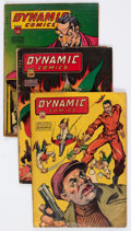 Golden Age (1938-1955):Superhero, Dynamic Comics #14, 18, and 19 Group (Chesler, 1945-46) Condition: Average GD+.... (Total: 3 Comic Books)