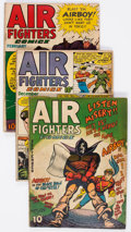 Golden Age (1938-1955):War, Air Fighters Comics Group of 3 (Hillman Fall, 1943-45) Condition:Average GD.... (Total: 3 Comic Books)