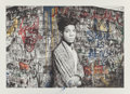 Prints:Contemporary, Mr. Brainwash (b. 1966). Samo is alive (Basquiat), 2016.Screenprint in colors on hand torn archival paper, hand finishe...