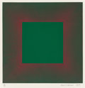 Prints:Contemporary, Richard Anuszkiewicz (b. 1930). Green with Red, from theAutumn Suite, 1979. Intaglio etching with aquatint onSomer...