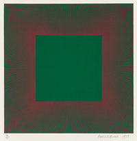 Richard Anuszkiewicz (b. 1930) Green with Red, from the Autumn Suite, 1979 Intaglio etchi