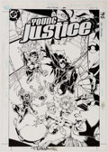 Original Comic Art:Covers, Todd Nauck and Lary Stucker Young Justice #21 Cover OriginalArt (DC, 2000)....