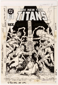 Kerry Gammill and Romeo Tanghal (attributed) New Teen Titans V2#27 Cover Original Art (DC, 1987)