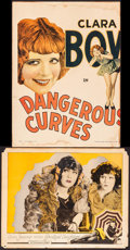 """Movie Posters:Comedy, Dangerous Curves & Other Lot (Paramount, 1929). Trimmed WindowCard (12"""" X 16"""") & Lobby Card (11"""" X 14""""). Comedy.. ... (Total:2 Items)"""
