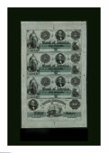 Obsoletes By State:Rhode Island, Providence, RI- Bank of America $5-$5-$5-$10 18__ G14a-G14a-G14a-G18a Uncut Sheet Remainder. This is a beautiful and popular...