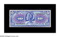 Military Payment Certificates:Series 611, Series 611 $10 About New. A horizontal fold is found on this gorgeous example....