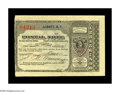 Miscellaneous:Postal Currency, Albany, NY Postal Note. Another exceptional piece from the Slabaughcollection, as this is clearly another example obtained ...
