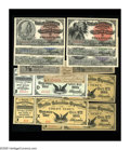 Miscellaneous:Other, 1893 World's Columbian Exposition Ticket Collection includingIndian, Columbus, Washington, Lincoln (all without A overprint...(Total: 13 items)