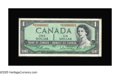 Canadian Currency: , BC-37bA $1 1954 Very Fine. A replacement note bearing serial number*S/O0000001. This is the sole replacement note bearing s...