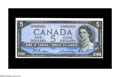 Canadian Currency: , BC-39b $5 1954 Choice Crisp Uncirculated. A lovely example bearingdesirable serial number D/S0000001....
