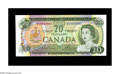 Canadian Currency: , BC-50b $20 1969 Gem Crisp Uncirculated. A lovely example of thefirst of the multi-color notes, with this piece bearing seri...