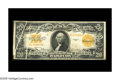 Error Notes:Large Size Errors, Fr. 1187 $20 1922 Gold Certificate. Fine-Very Fine. A pair of gutter folds traverse this note, a rare enough error in large ...