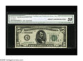 Error Notes:Inverted Reverses, Fr. 1950-D $5 1928 Federal Reserve Note. CGA About Uncirculated 50.This early FRN with an inverted reverse enjoys considera...