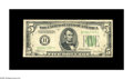 Error Notes:Inverted Reverses, Fr. 1959-B $5 1934C Federal Reserve Note. Extremely Fine. Thispleasing invert was most likely pulled from circulation quick...
