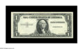 Error Notes:Missing Face Printing (100%), Fr. ? $1 ? Silver Certificate. Choice Crisp Uncirculated. A lovely note missing the entire third printing, including the ser...