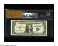 Error Notes:Inverted Third Printings, Fr. 1616 $1 1935G Silver Certificate. RCGS Very Fine 25. Acertified note with the left star very clearly inverted. Starnot...