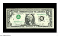 Error Notes:Inverted Third Printings, Fr. 1908-C $1 1974 Federal Reserve Note. Gem Crisp Uncirculated.Wide margins and nice centering are two quality traits of t...