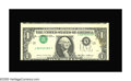 Error Notes:Inverted Third Printings, Fr. 1913-L $1 1985 Federal Reserve Note. Choice About Uncirculated.This neat type 2 invert has some handling visible and a ...