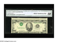 Error Notes:Inverted Third Printings, Fr. 2077-G $20 1990 Federal Reserve Note. CGA About Uncirculated58. This is a very desirable high grade Type 2 invert....