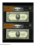 Error Notes:Missing Third Printing, A Pair of $20 Federal Reserve Notes with the Overprint Missing. Fr. ? $20 19_ _ Federal Reserve Note RCGS Extra Fine 40.. Fr... (Total: 2 notes)