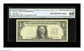 Error Notes:Third Printing on Reverse, Fr. 1913-D $1 1985 Federal Reserve Note. CGA Gem Uncirculated 65. The third printing is on the back of this Cleveland $1....