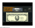 Error Notes:Third Printing on Reverse, Fr. 2080-G $20 1993 Federal Reserve Note. RCGS Gem CU 65. A multiple error, with the third printing inverted on the reverse ...
