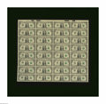 Error Notes:Mismatched Prefix Letters, Fr. 1911-A $1 1981 Federal Reserve Notes. Uncut Sheet of 32. CrispUncirculated. This is the well known A-H/B-H mismatched p...