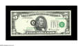 Error Notes:Shifted Third Printing, Fr. 1972-A* $5 1969C Federal Reserve Star Note. Gem Crisp Uncirculated. The third printing is located partially in the portr...