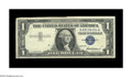 Error Notes:Foldovers, Fr. 1619 $1 1957 Silver Certificate. Very Fine-Extremely Fine..This sheet folded over prior to being overprinted with the b...