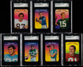 Football Cards:Sets, 1970 Topps Super Glossy Football Complete Set (33). ...