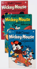 Golden Age (1938-1955):Cartoon Character, Four Color Mickey Mouse Group of 10 (Dell, 1949-52) Condition: Average VG-.... (Total: 10 Comic Books)