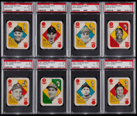 1951 Topps Red Back Complete Set (52) & 1951 Topps Blue Back Partial Set (35/52)
