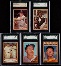 1962 Topps Baseball Complete Set (598) With Nine Variations