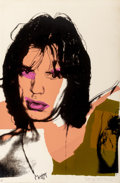 Prints:Contemporary, Andy Warhol (1928-1987). Mick Jagger, from the MickJagger portfolio, 1975. Screenprint in colors on ArchesAquarell...