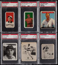 Baseball Cards:Lots, 1909-1948 Vintage PSA Graded Collection (6). ...