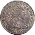 Early Half Dollars, 1803 50C Small 3, Large Reverse Stars, O-104, T-4, R.3, AU58 PCGS.CAC....