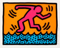 Prints, Keith Haring (1958-1990). Pop Shop Quad II (set of four), 1988. The complete set of four screenprints in colors. 10-1/2 ... (Total: 4 Items)