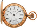 Timepieces:Pocket (post 1900), Elgin 21 Jewel 14k Gold Grade 348 Hunter Case, circa 1904. ...