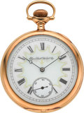 Timepieces:Pocket (pre 1900) , Elgin Grade 162 Gold 21 Jewel With Fancy Dial, circa 1892. ...