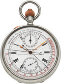 Timepieces:Pocket (pre 1900) , Ulysse Nardin Cronógrafo Medical Split Seconds Chronograph With Register. ...