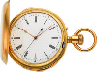 Swiss Rare Two Train Minute Repeater With Independent Dead Beat Seconds, Gold Case By Martin Matthews