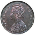India:British India, India: British India. Victoria Proof 1/4 Anna 1891-(C) PR64 Brown NGC,...