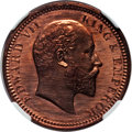 India:British India, India: British India. Edward VII Original Proof 1/4 Anna 1905-(C) PR65 Red NGC,...