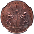 India:British India, India: British India. Madras Presidency - East India Company Proof 20 Cash 1803 PR64 Red and Brown NGC,...