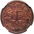 India, India: British India. Bombay Presidency Proof 1/4 Anna AH 1249 (1833) PR63 Red and Brown NGC,...