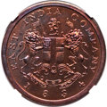 India:British India, India: British India. Bombay Presidency Proof 1/2 Anna AH 1249 (1834) PR64 Red and Brown NGC,...