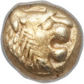 Ancients:Greek, Ancients: LYDIAN KINGDOM. Alyattes - Croesus. Ca. 610-546 BC. EL1/12th stater or hemihecte (1.18 gm). NGC Choice XF 5/5 - 4/5....
