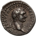 Ancients:Roman Imperial, Ancients: Domitian (AD 81-96). AR denarius (3.29 gm). NGC Choice XF ★ 5/5 - 4/5....