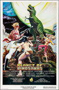 "Movie Posters:Science Fiction, Planet of Dinosaurs (Cineworld, 1978). One Sheet (27"" X 41"") &Uncut Pressbook (4 Pages, 11"" X 17""). Science Fiction.. ... (Total:2 Items)"